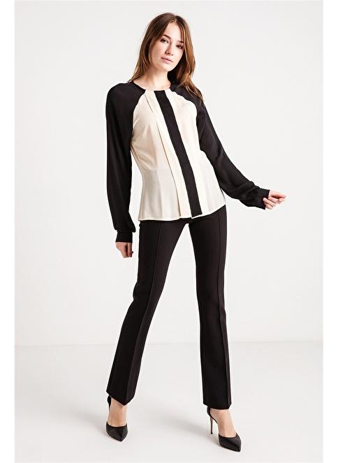 Love'n Fashion Paris Pati Nervür Detaylı Gömlek Siyah